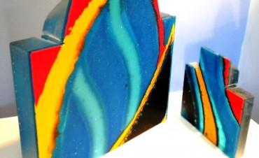 2 Piece Glass Sculpture